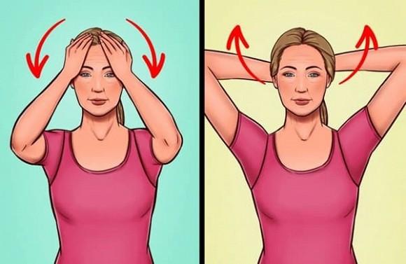 7 bài tập giúp thoát khỏi tình trạng chảy xệ quanh cằm và cổ gà tây - Hình 1