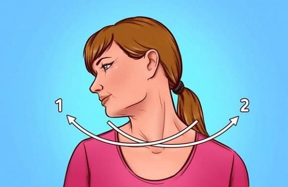 7 bài tập giúp thoát khỏi tình trạng chảy xệ quanh cằm và cổ gà tây - Hình 2