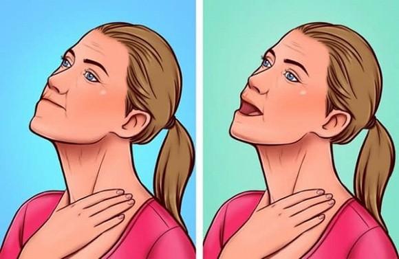 7 bài tập giúp thoát khỏi tình trạng chảy xệ quanh cằm và cổ gà tây - Hình 4