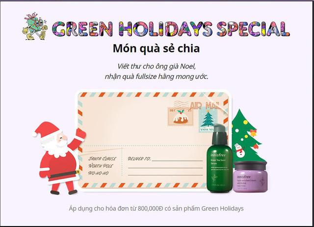 Giáng sinh xanh, hạnh phúc an lành - Đón Noel nhiệt đới với BST giới hạn Green Holidays của Innisfree - Hình 8