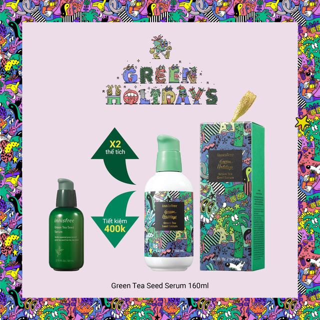 Giáng sinh xanh, hạnh phúc an lành - Đón Noel nhiệt đới với BST giới hạn Green Holidays của Innisfree - Hình 2