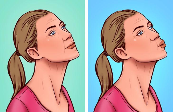 7 bài tập giúp xóa nếp nhăn vùng da cổ - Hình 3