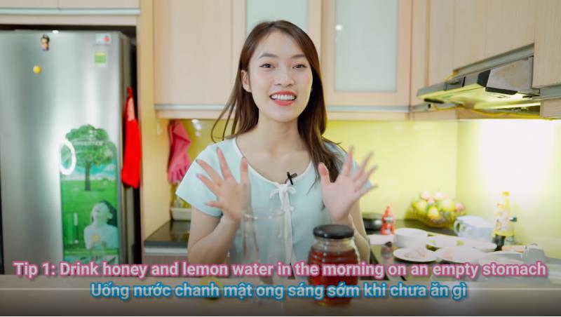 Theo chân hotgirl 7 thứ tiếng Khánh Vy học bí kíp giảm cân, giữ dáng cực chuẩn chỉnh! - Hình 1