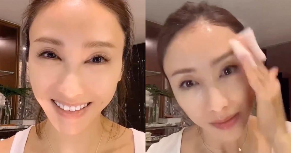 """Nhan sắc thật ở tuổi 49 của """"đệ nhất mỹ nhân TVB"""" Lê Tư lộ diện sau khi xóa bỏ lớp trang điểm"""