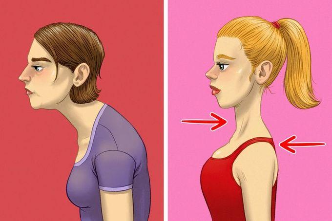 9 động tác giúp cổ cao và thon đẹp - Hình 1