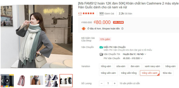 5 mẫu khăn len từ 39k bán chạy nhất kèm cả review xịn cho bạn - Hình 6