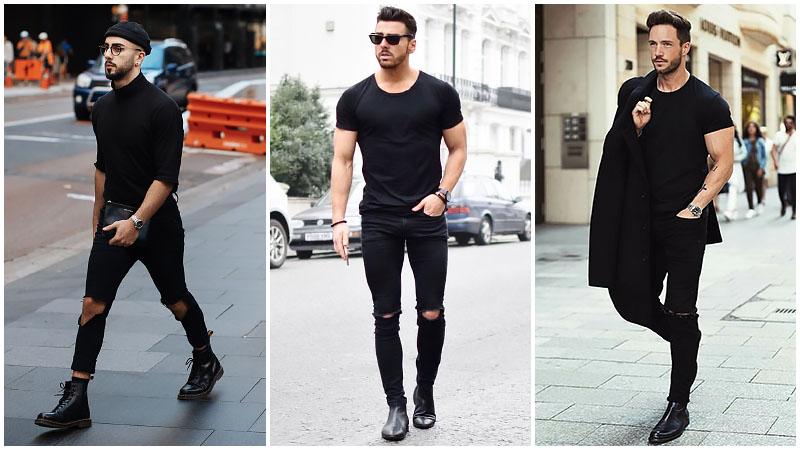 Bí quyết chọn trang phục toàn màu đen cho quý ông sành điệu - Hình 4