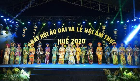 Thùy Trang và Đinh Y Nhung đội Khánh vàng, làm Vedette trong Ngày hội Áo dài Huế - Hình 17