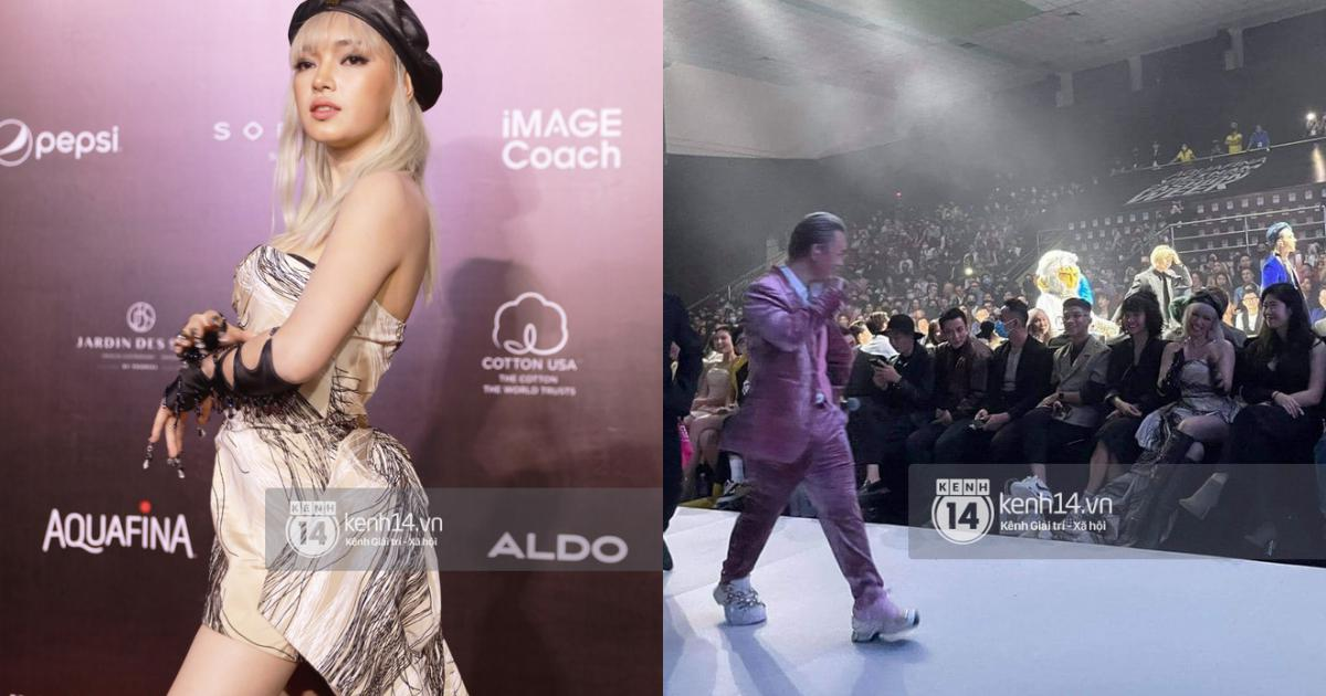 Cực hot tại Fashion Week tối nay: Binz lao đến hôn gió, nắm tay Châu Bùi, ơn giời cặp đôi đã mặt đối mặt thể hiện tình cảm rồi!