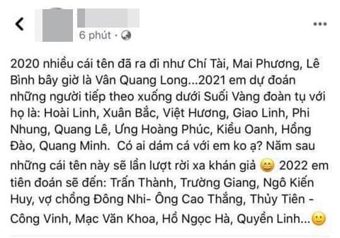 Ca sĩ Vân Quang Long vừa mất, một tài khoản Facebook bị cư dân mạng ném đá tới tấp vì phát ngôn ác ý rủa nhiều nghệ sĩ khác - Hình 2