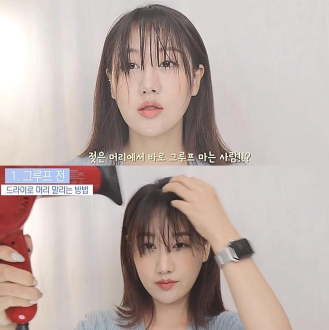 Dù phần mái hết sức chán đời, blogger Hàn vẫn có cách tạo kiểu mái thưa đẹp tự nhiên giống Suzy - Hình 6
