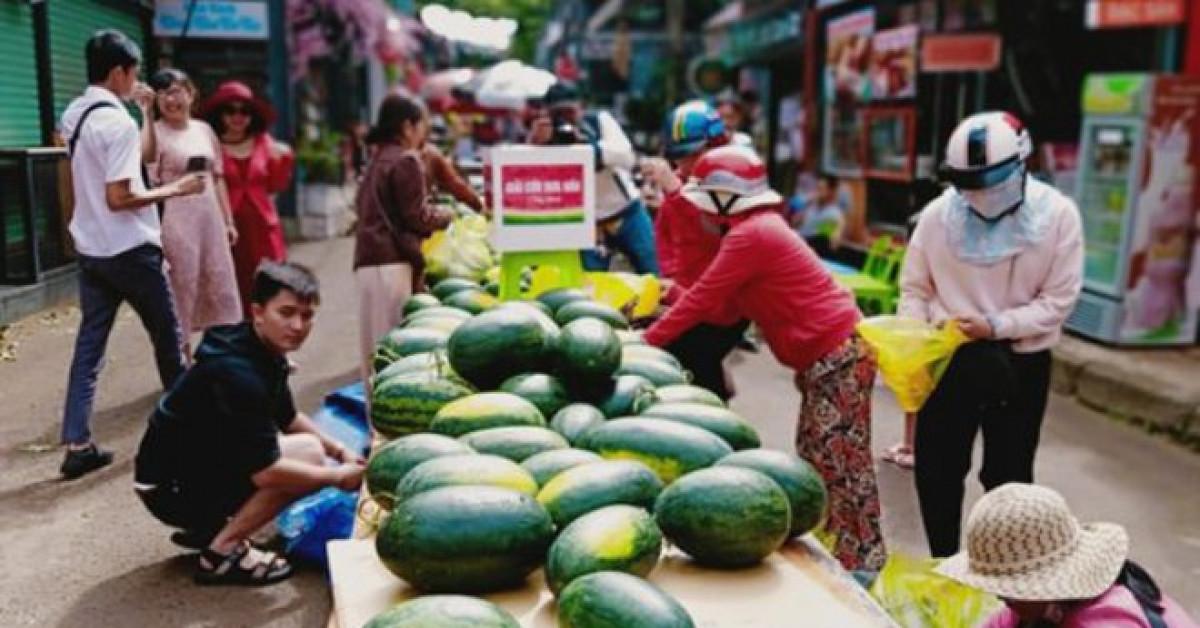 Cách giải cứu dưa hấu hiếm thấy ở Đắk Lắk: Lấy tùy thích, tiền tùy tâm - Hình 1