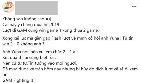 Để thua trước Team Flash, fan hâm mộ vẫn tin tưởng GAM sẽ lên ngôi vô địch - Hình 1