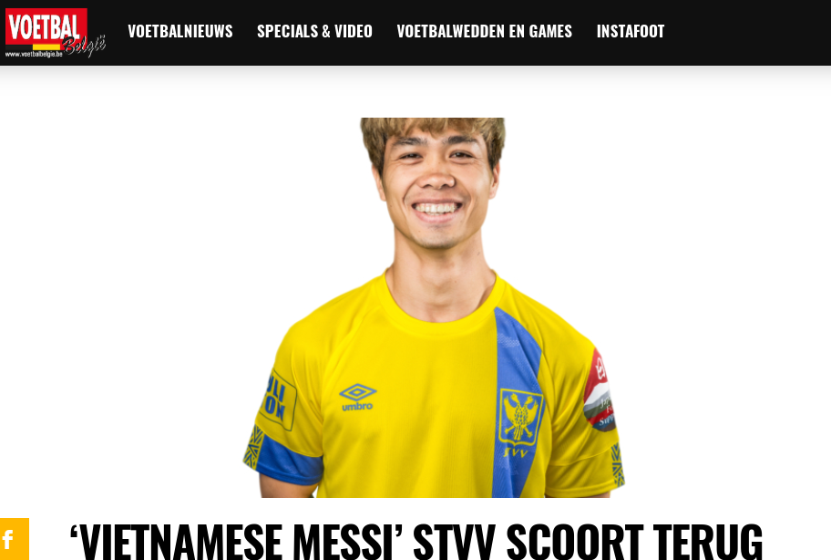 Ghi bàn cho TP.HCM, Công Phượng được báo Bỉ gọi là Messi Việt Nam - Hình 1