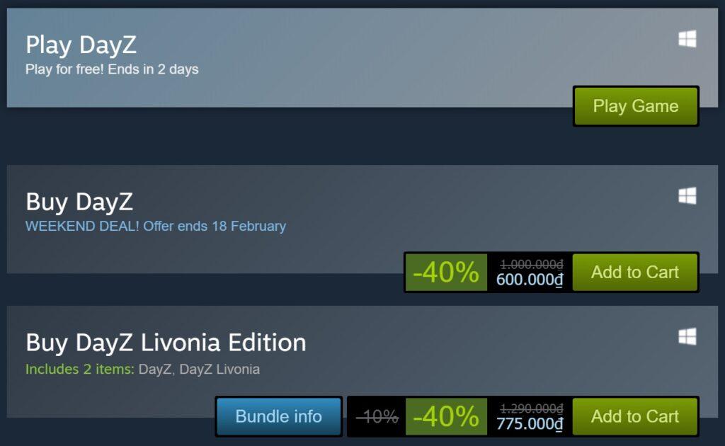 DayZ và Last Year đang miễn phí cuối tuần trên Steam, Hitman và Monster Hunter World giảm giá sập sàn - Hình 1
