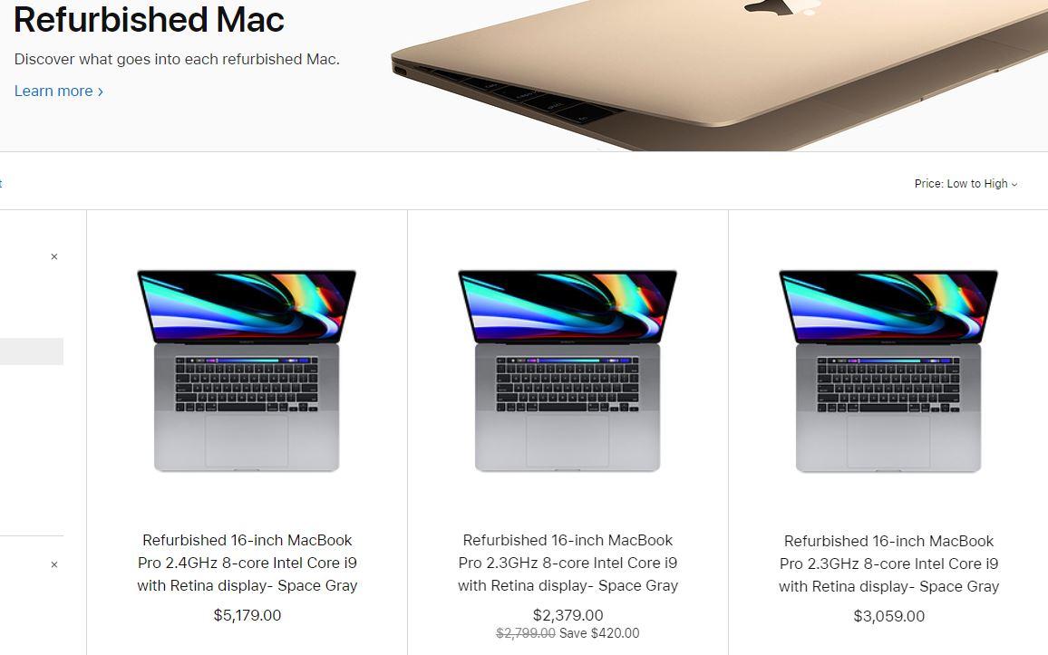 MacBook Pro 16 inch tân trang được mở bán với giá giảm 15% - Hình 1