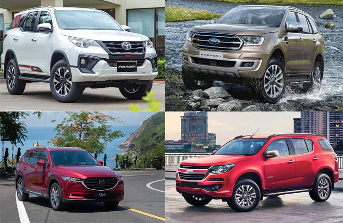 Phân khúc SUV 7 chỗ tháng 1/2020: Ford Everest đe doạ 'ngôi vương' Toyota Fortuner - Hình 1