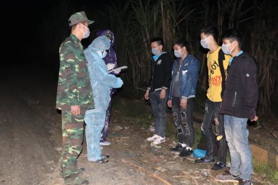 Đồn Biên phòng Thị Hoa phát hiện 4 công dân nhập cảnh trái phép vào Việt Nam - Hình 1