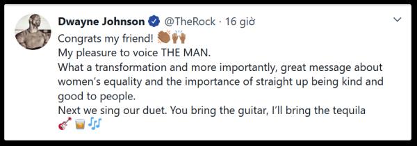 Nam diễn viên The Rock chính là người lồng tiếng cho Taylor Swift trong MV The Man - Hình 2
