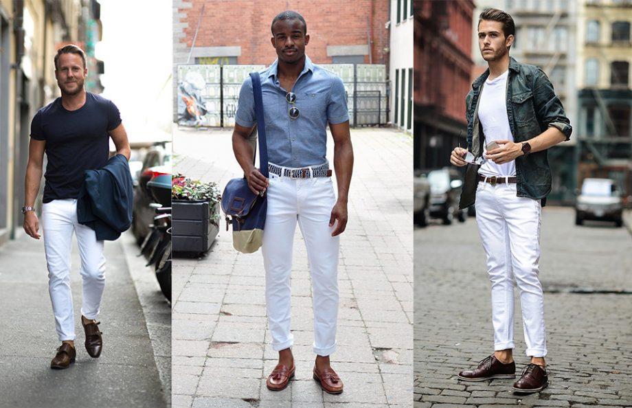 Cách mặc jean trắng nam tính và sành điệu - Hình 1