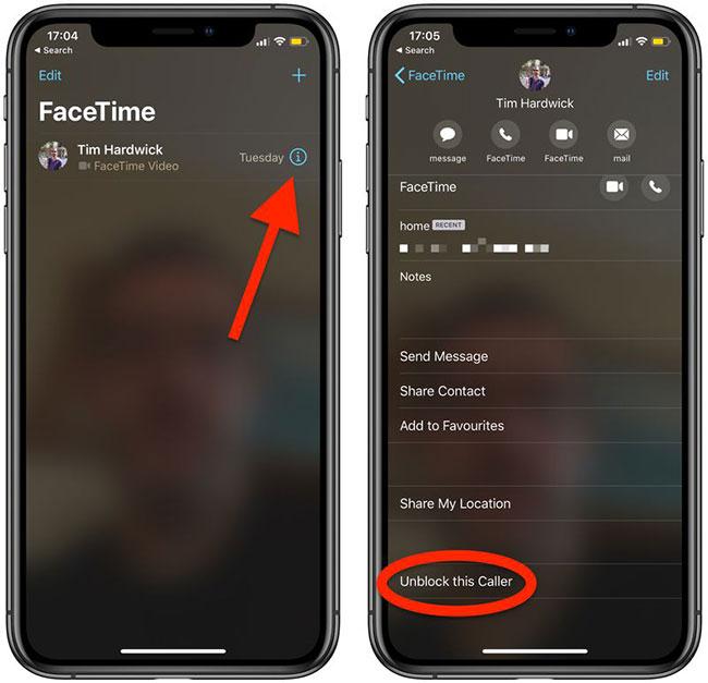 Cách bỏ chặn người gọi trên FaceTime - Hình 1