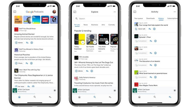 Google mang Google Podcasts lên iOS với giao diện mới - Hình 1