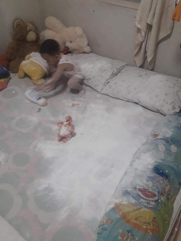 Ở nhà trông con, ông bố bị biến thành chú bạch tuyết vì trót ngủ say khi con còn thức - Hình 9