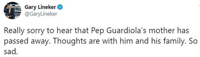 Các ngôi sao bóng đá đồng loạt chia buồn khi mẹ HLV Pep Guardiola qua đời - Hình 3
