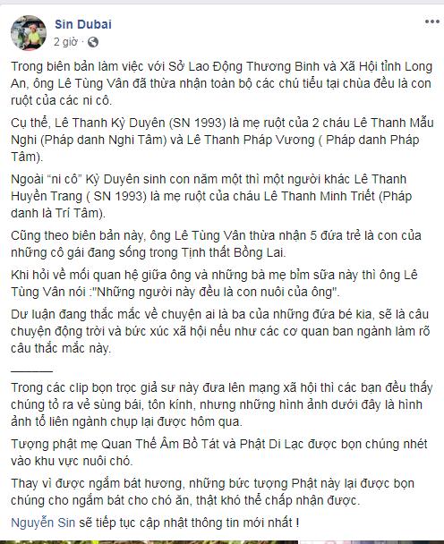 Sốc: Trụ trì Tịnh Thất Bồng Lai thừa nhận 5 chú tiểu là con của ni cô? - Hình 1
