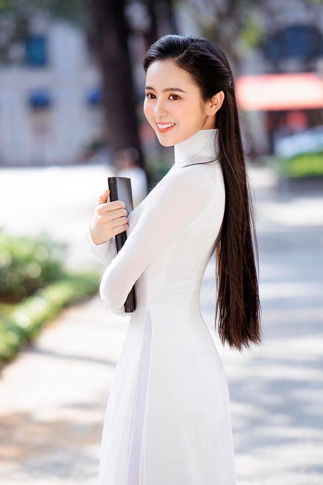 Nữ sinh có tên lạ Trịnh Thị Ái Phi đẹp tinh khôi với áo dài trắng - Hình 3