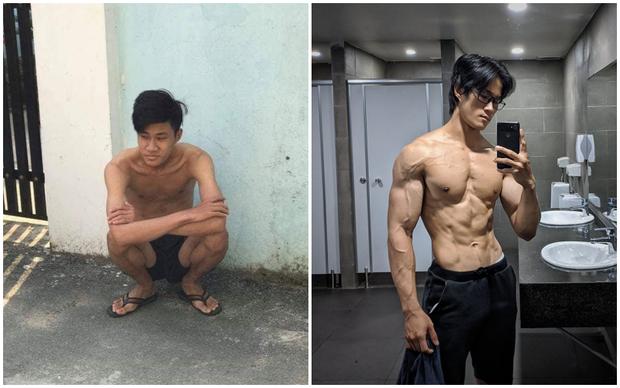 Thanh niên da bọc xương lột xác thành trai cơ bắp nhờ tăng 20kg trong một năm: Còn ai đòi gầy để đẹp nữa không? - Hình 1