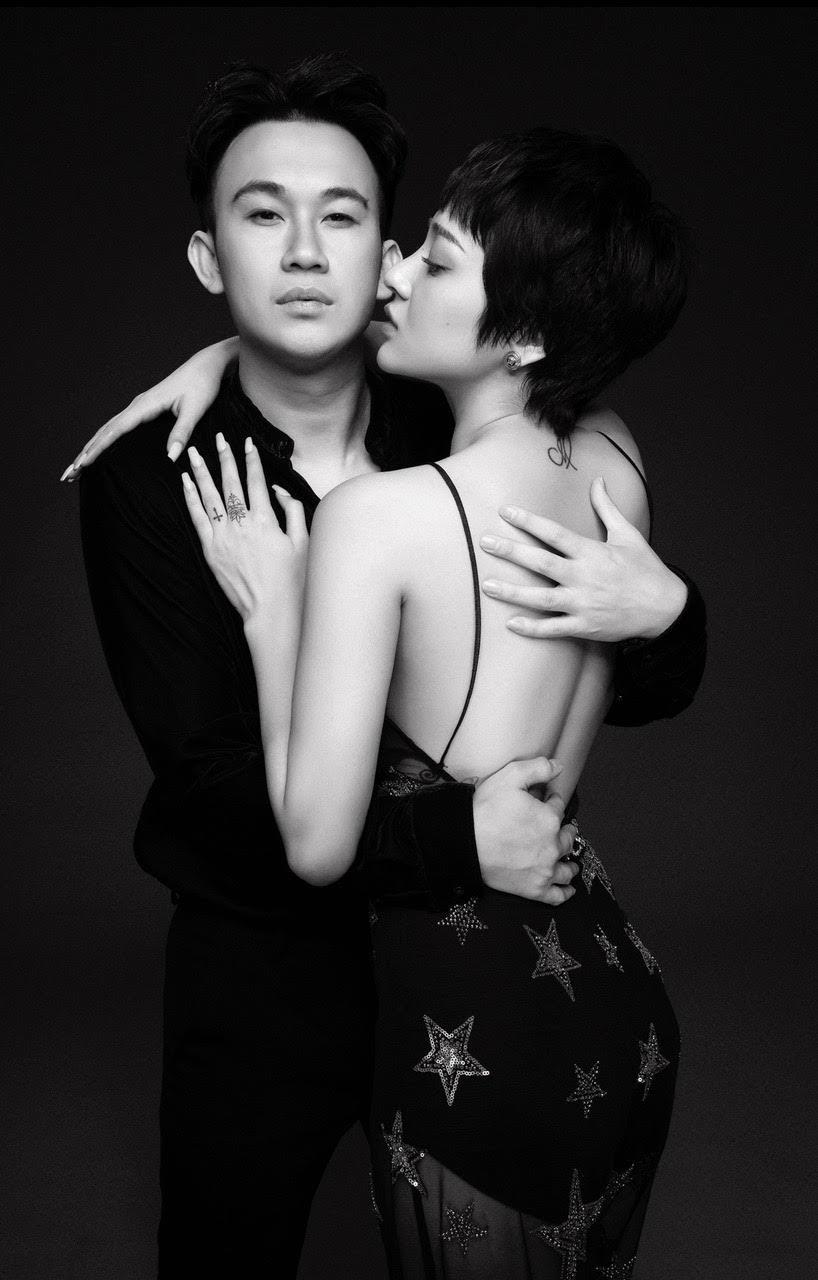 Dương Triệu Vũ lịch lãm, Bảo Anh quyến rũ 'hết nấc' trong bộ ảnh gửi tặng người hâm mộ - Hình 4