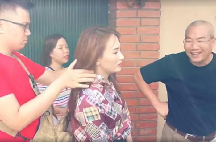Bi hài hậu trường sao Việt mặc đồ mùa đông đóng phim giữa hè - Hình 9