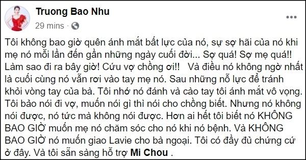 Rớt nước mắt trước dòng chữ bé Lavie gửi tặng cố nghệ sĩ Mai Phương - Hình 11