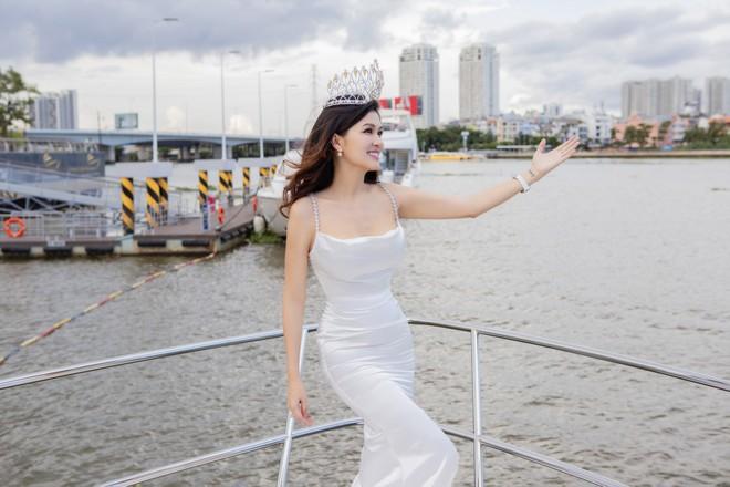 Hoa hậu 6 con Oanh Yến tiết lộ thi Hoa hậu Quý bà Hoàn vũ Thế giới - Hình 2