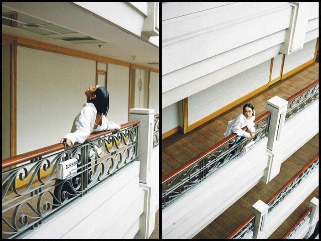 Fashionista Thu Anh Hồ xuất hiện độc đáo cùng trang phục Burberry - Hình 2