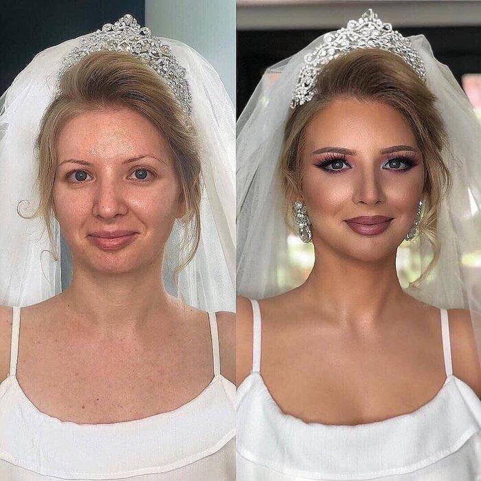 Loạt ảnh các cô dâu trước và sau được họa mặt chứng minh cho sức mạnh vô địch của make up - Hình 8