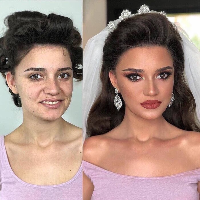 Loạt ảnh các cô dâu trước và sau được họa mặt chứng minh cho sức mạnh vô địch của make up - Hình 6