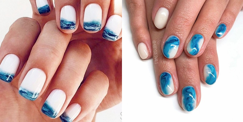 Mùa hè mà không được đi chơi, các cô nàng hãy thử ngay loạt mẫu nail biển xanh, vỏ sò này - Hình 6