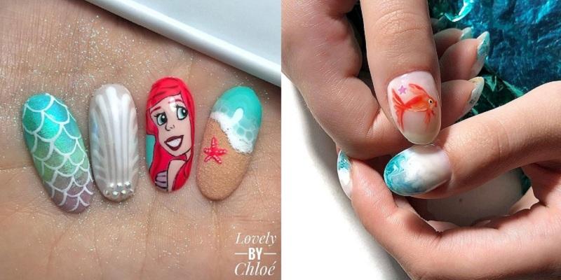 Mùa hè mà không được đi chơi, các cô nàng hãy thử ngay loạt mẫu nail biển xanh, vỏ sò này - Hình 19