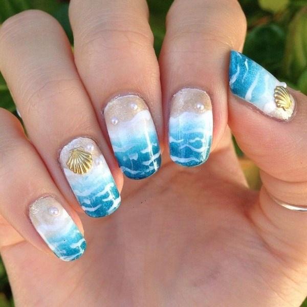 Các mẫu nail ''biển gọi'' dành riêng cho mùa hè sôi động và nóng bỏng - Hình 5