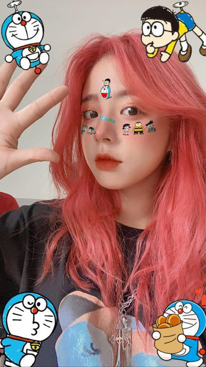 Nhuộm tóc style chói trang, hot girl NEU đẹp cân cả thế giới - Hình 8