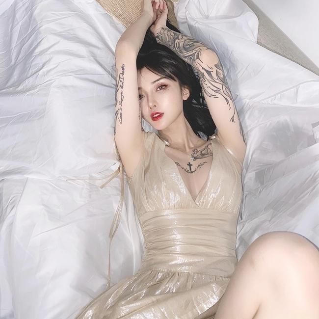 3 hot girl xăm mình châu Á nổi tiếng nhờ hình xăm vị trí nữ tính nhất cơ thể - Hình 13