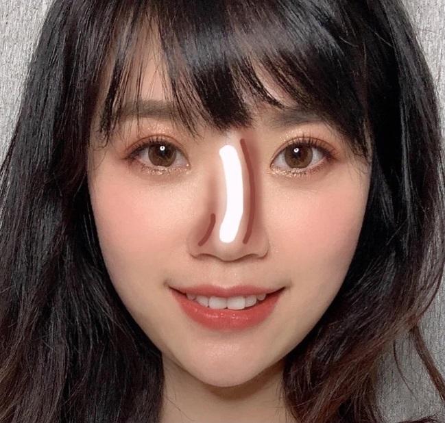 Cách makeup theo hình dáng mũi - Hình 5