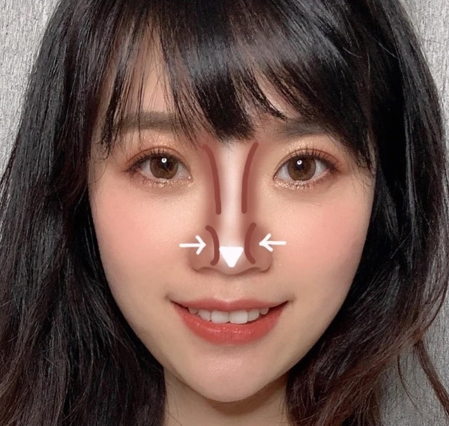 Cách makeup theo hình dáng mũi - Hình 1