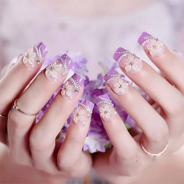 Những mẫu nail ombre đẹp trẻ trung được yêu thích nhất hiện nay - Hình 7