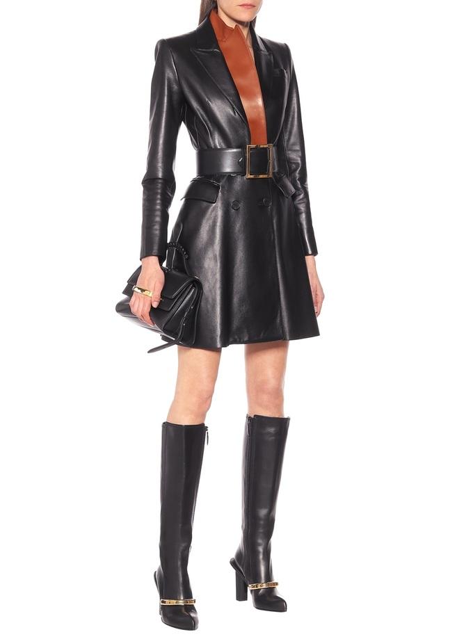 Gợi ý 10 kiểu váy da mùa thu - Hình 1
