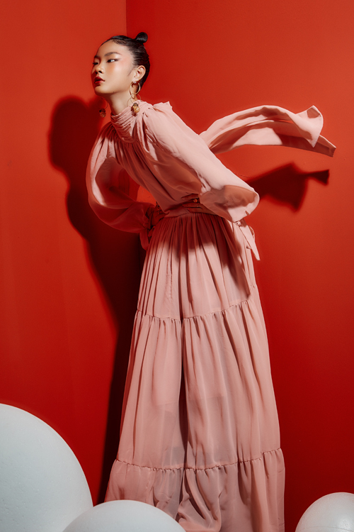 Mẫu nhí Eva Wu diện váy xuân của NTK Thanh Huỳnh - Hình 3