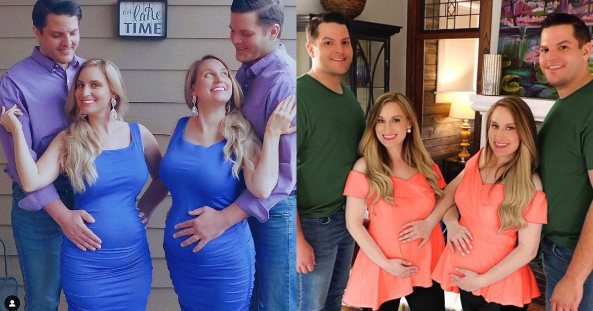 Chị em sinh đôi có bầu với anh em song sinh, dân mạng tò mò diện mạo 2 bé