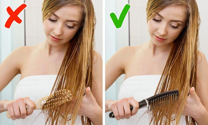 7 sai lầm khi chải khiến tóc hư tổn nặng nề - Hình 5